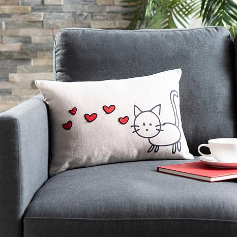"Safavieh 12"" x 18"" Kitty Love Pillow"