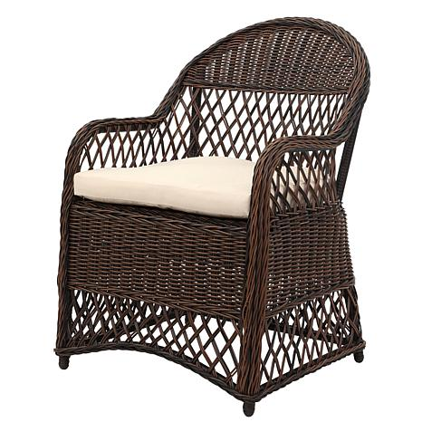 Safavieh Davies Wicker Arm Chair With Cushion