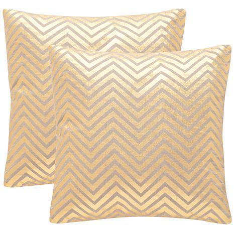 "Safavieh Elle Set of 2 Linen Pillows - 18"" x 18"""