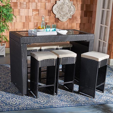 Safavieh Horus 7-piece Outdoor Dining Set - 9484454 | HSN on Safavieh Outdoor Living Horus Dining Set id=99152