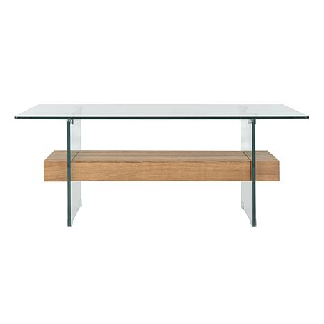 Safavieh Kayley Modern Rectangular Glass Coffee Table 8608065 HSN