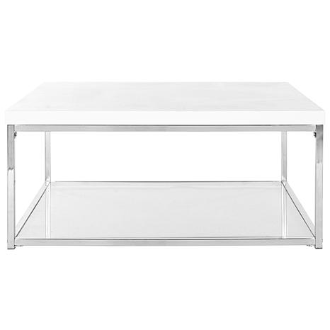 Safavieh Malone High-Gloss Coffee Table - Chrome Finish