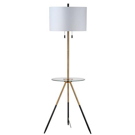 """Safavieh Morrison 61"""" Floor Lamp Side Table"""