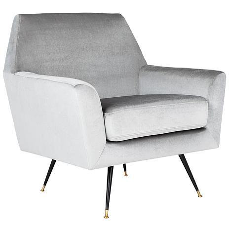 Safavieh Nynette Velvet Retro Mid Century Accent Chair 8445944 Hsn