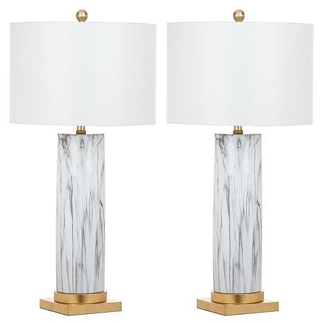 "Safavieh Sonia Faux Marble 31-1/4"" Table Lamp"