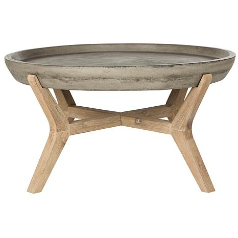 Safavieh Wynn Modern Concrete Round Coffee Table