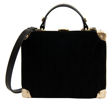 Sam Edelman Calla Velvet-Smocked Hardcase Shoulder Bag