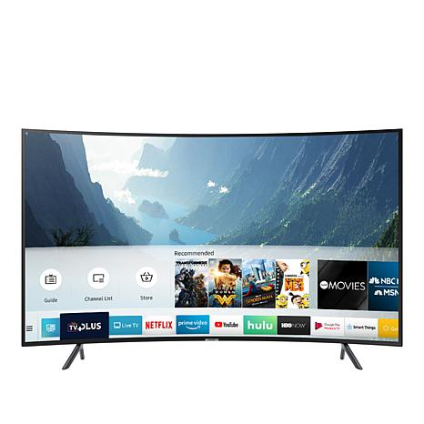 "Samsung NU7300 55"" Curved 4K UHD Smart HDTV with 2-Year Warranty"