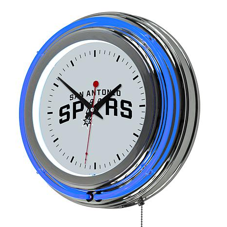 San Antonio Spurs Double Ring Neon Clock