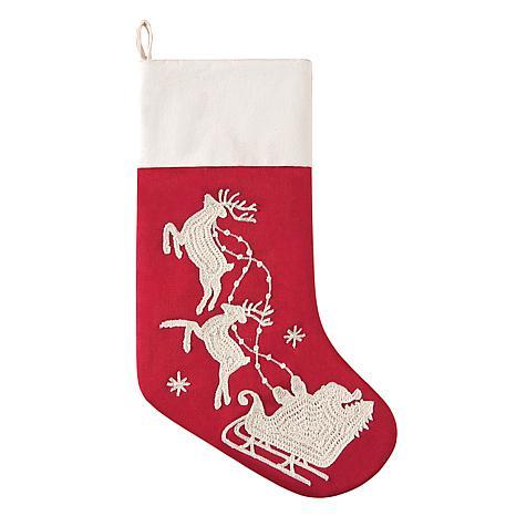 Santa Sleigh Stocking A