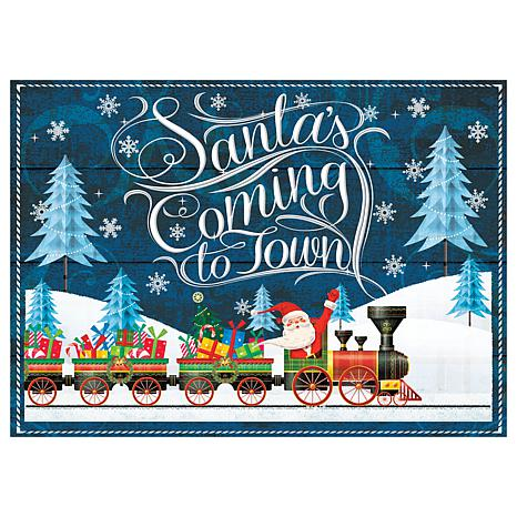 Santa's Coming to Town Premium Comfort Christmas Floor Mat