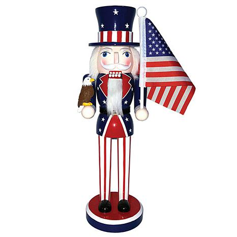 Santa's Workshop 14' Stars & Stripes Nutcracker Figurine