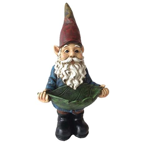 Santa's Workshop Resin Gnome Feeder