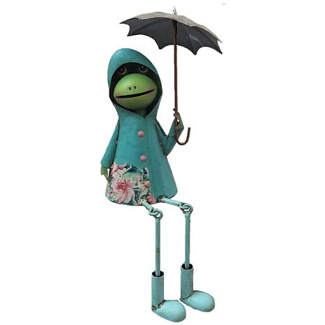 Santa's Workshop Sitting Mr. Frog in the Rain Figurine
