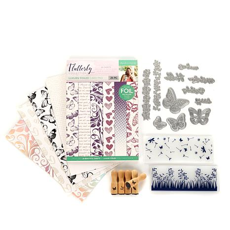 Sara Signature Flutterby Paper, Folders Stamps & Dies