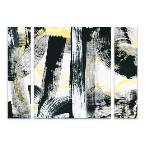 "Schlabach ""LPs in 33 Light Yellow"" Panel Art -24"" x 32"""