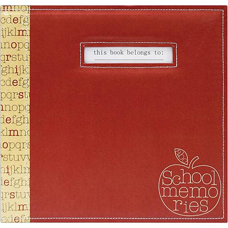 "School Memories 12"" x 12"" Scrapbook/Red Apple"