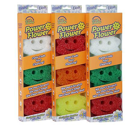 Scrub Daddy® Power Flower Scratch-Free Sponges 9-pack