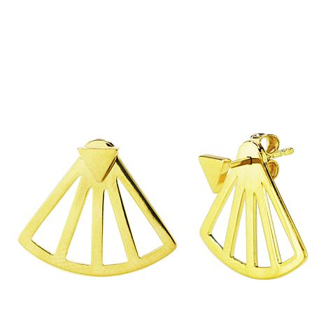 Sechic Jeune et Jolie 14K Gold Cutout Fan Earring Jackets