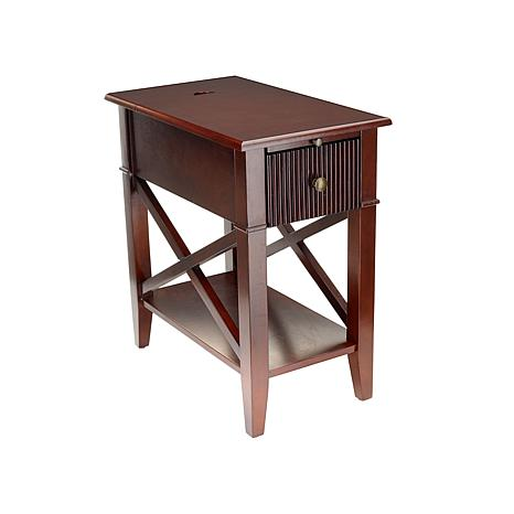 SEI X Base Side Table with USB Port