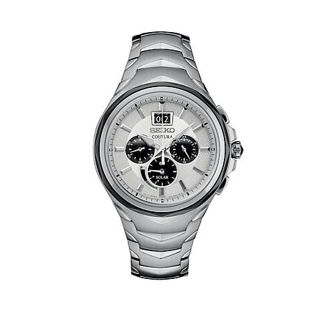 Seiko Coutura Men s Big Date Stainless Steel Solar Watch - 8571025  4083003a5ade