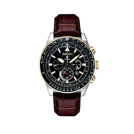 Seiko Men's Prospex Solar-Powered Chronograph Flight Watch