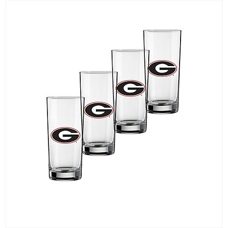 Set of 4 Highball Glasses - University of Georgia