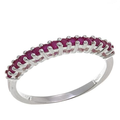 Sevilla Silver™ 0.32ctw Round Ruby Band Ring