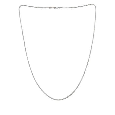 "Sevilla Silver™ 24"" Wheat Chain Necklace"