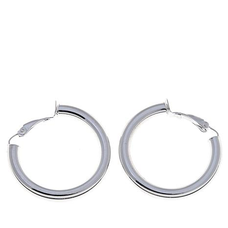 Sevilla Silver™ 30mm Clip-On Hoop Earrings