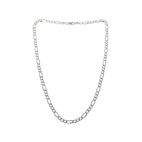 "Sevilla Silver™ 4mm Figaro Chain 16"" Necklace"