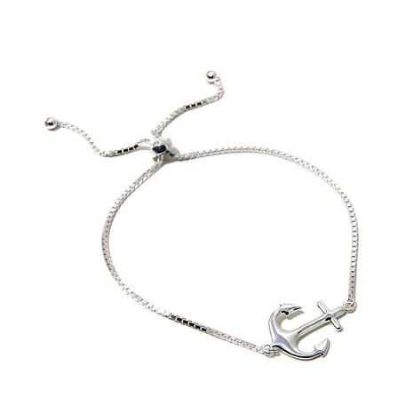 "Sevilla Silver™ Adjustable ""Anchor"" Bracelet"