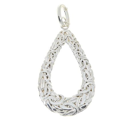 Sevilla Silver™ Byzantine Teardrop Pendant with Chain