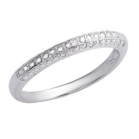 Sevilla Silver™ Diamond-Accented Band Ring