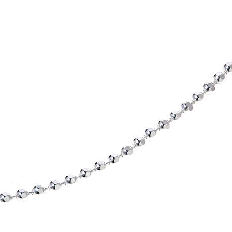 "Sevilla Silver™ Diamond Cut Shot Bead 24"" Necklace"