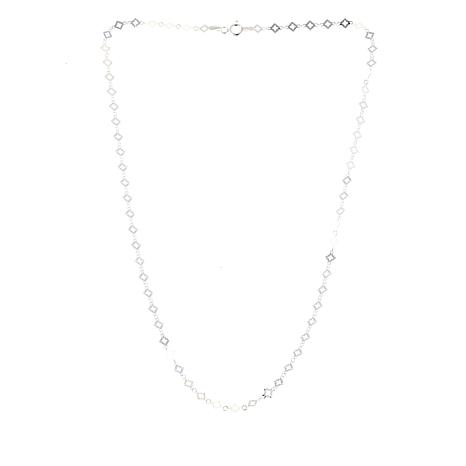 "Sevilla Silver™ Diamond-Cut Sparkle-Link 18"" Chain Necklace"