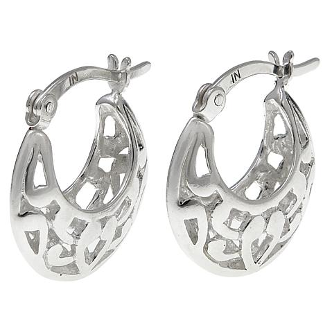 Sevilla Silver™ Filigree Hugger Hoop Earrings