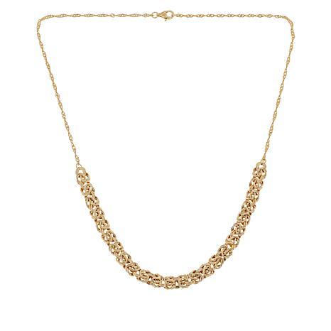 Sevilla Silver™ Gold-Plated Byzantine Frontal Necklace