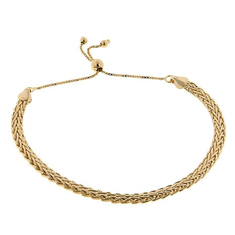 Sevilla Silver™ Gold-Plated Wheat Chain Adjustable Bracelet