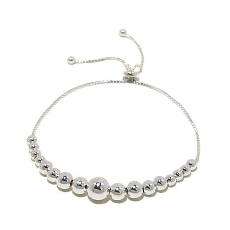 Sevilla Silver™ Graduated Bead Adjustable Bracelet
