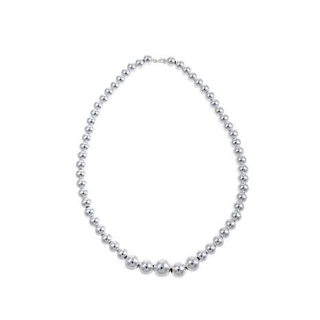 "Sevilla Silver™ High-Polished Bold Bead 18"" Necklace"