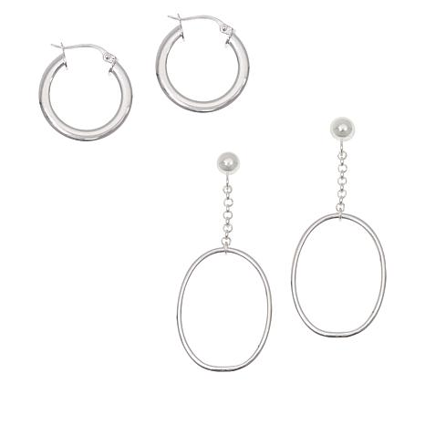 Sevilla Silver™ Hoop and Drop Earring Set