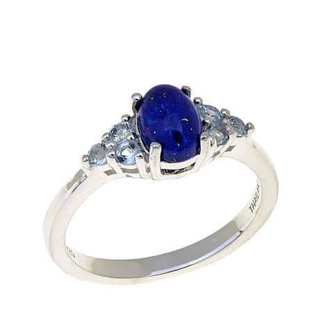 Sevilla Silver™ Lapis and Blue Topaz Ring
