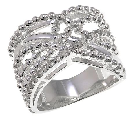 Sevilla Silver™ Multi-Row Crisscross Ring