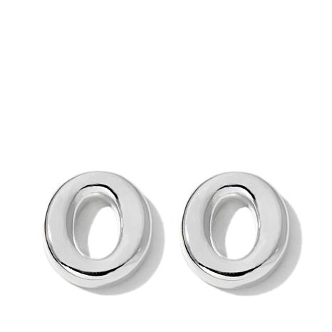 "Sevilla Silver™ Polished ""O"" Stud Earrings"