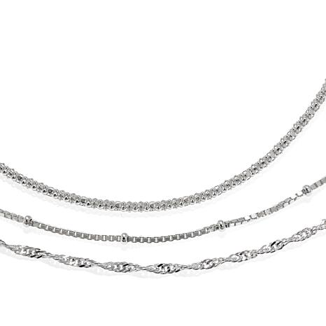 Sevilla Silver™ Set of 3 Basic Chains