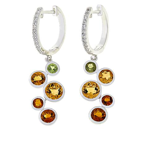 Sevilla Silver Shades Of Citrine Drop Earrings