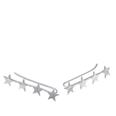 "Sevilla Silver™ ""Star"" Ear Crawler Earrings"