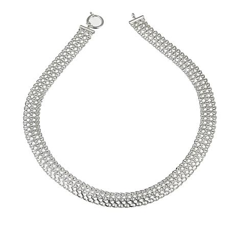 """Sevilla Silver™ Woven """"Tapestry"""" Chain 18"""" Necklace"""