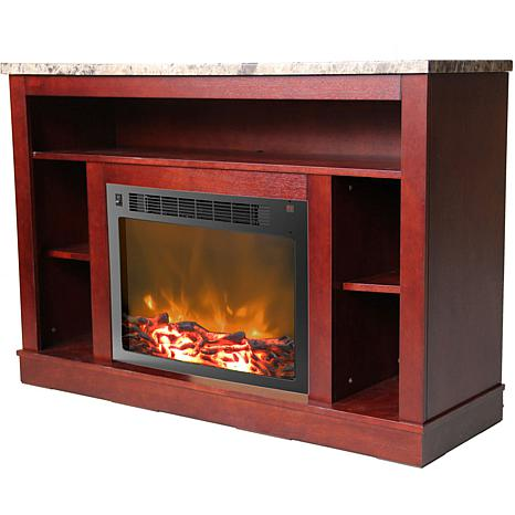 Fantastic 47 In Electric Fireplace With A 1500W Log Insert And Mahogany Mantel Download Free Architecture Designs Rallybritishbridgeorg